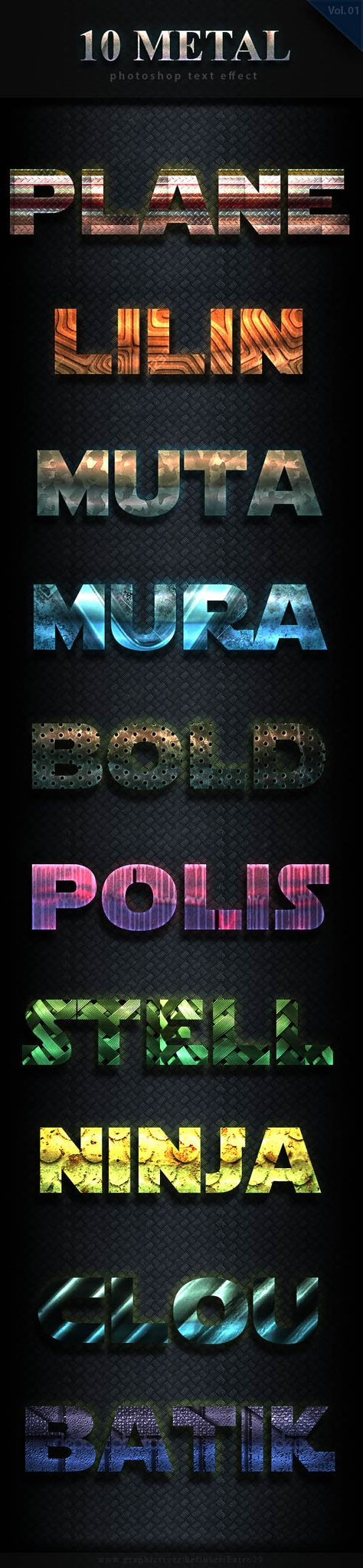 10 Metal Bold Text Effect Vol 3