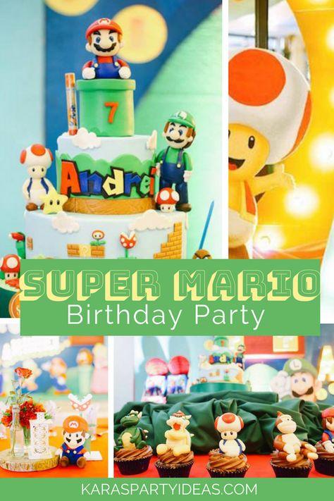Super Mario Birthday Party Via KarasPartyIdeas