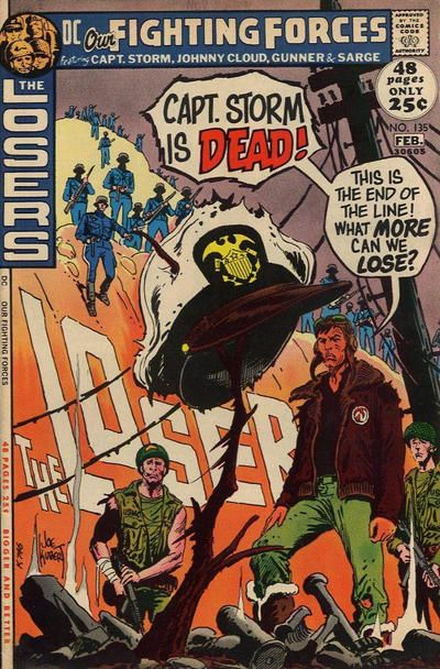 Joe Kubert's cover art on Our Fighting Forces #135