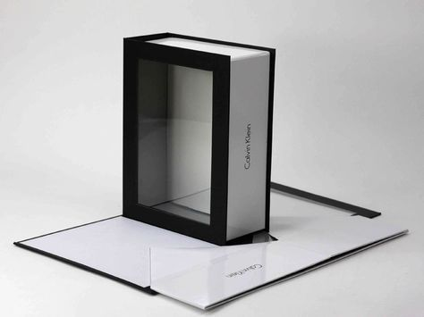 Calvin Klein Corporate Knockdown This Box Features Kd Style Construction With A Clear Acrylic Window And Magne Box Packaging Gift Box Design Gift Box Packaging