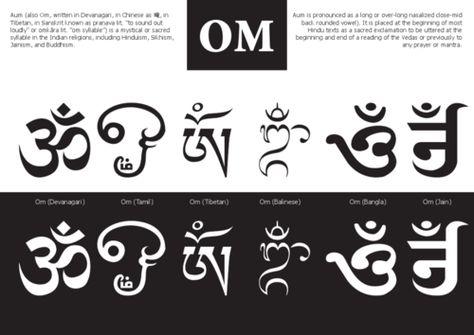 Various Styles Of Om Symbol Art Typography Body Art Pinterest