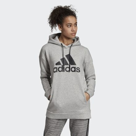 Details about Adidas Women Hoody W Must Haves Badge of Sport Long Hoodie