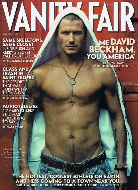 David Beckham poster on sale at theposterdepot. Poster sizes for all occasions. David Beckham Poster Vanity Fair Magazine Covershirtless for sale.