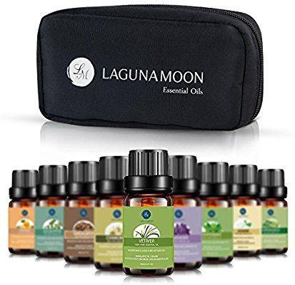 Lagunamoon Essential Oils With Travel Bag Pure Aromatherapy Oils Tea Tree Lav Aceites Esenciales De Menta Aromaterapia Aceite Esencial De Sándalo