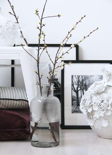 Takken In Vaas.Takken In Vaas Zwart Wit Black White Flowers Decoratie
