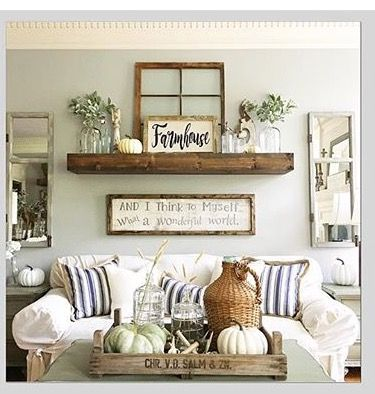 Living Room decor - rustic farmhouse style. Gallery wall | Our ...