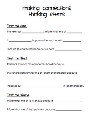 image regarding Making Connections Worksheet Printable referred to as Pinterest Пинтерест