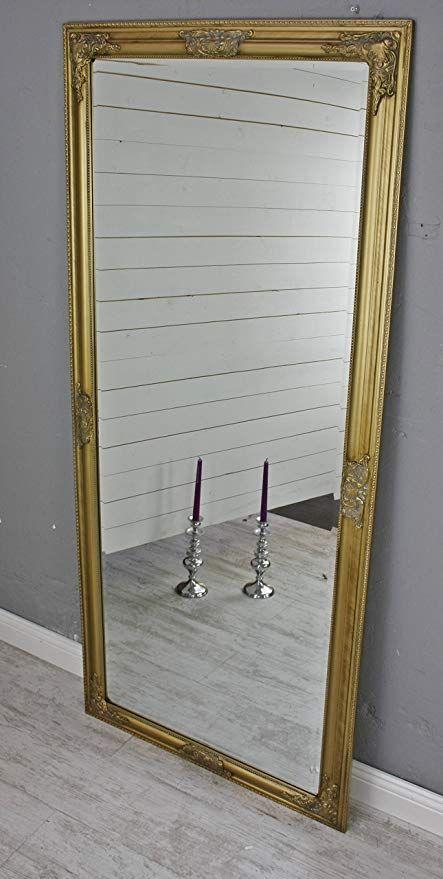 Elbmobel Wandspiegel Gross In Gold Antik Mit Holz Rahmen 150 X 60cm