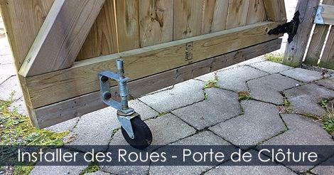 Roue barrière porte de clôture   Clôture de Jardin - Étapes de ...