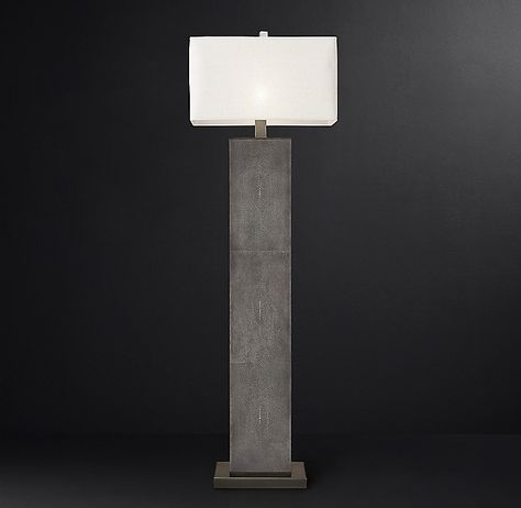 Delano Shagreen Rectangular Floor Lamp With Images Floor Lamp