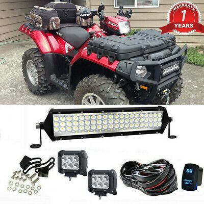 12 Inch Led Light Bar Offroad Roof Wiring For Polaris Rzr 570 800 900 Xp1000 Led Light Bars Led Light Bar Mounts Polaris Rzr