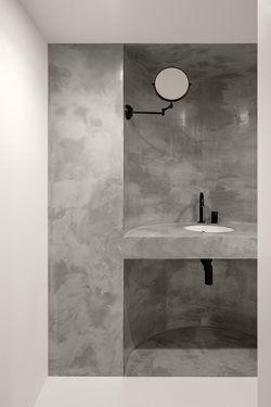 Say No Mo Balbek Bureau In 2020 Interior Architecture Design Curved Walls Round Mirror Bathroom