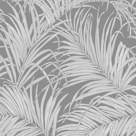 Arthouse Kiss Foil Palm Leaf Grey Gunmetal Wallpaper 903305 Tropical Wallpaper Poster Abstrak Pemandangan Abstrak Abstrak