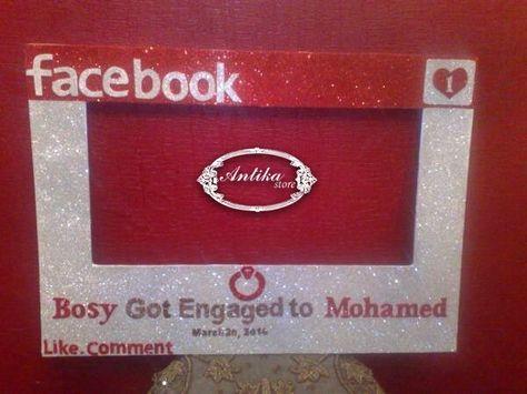 Just Engaged Photo Frame Mohamed Reham Antika Store Love Of Beauty ...