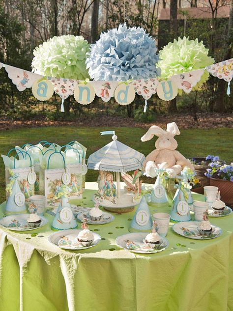 A beautiful setting for a Peter Rabbit party.