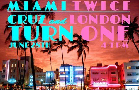 Original Miami Vice Inspired Party For Twin Boy Girl Miami Twice