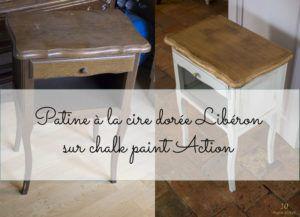Patine A La Cire Doree Sur Chalk Paint Action Conclusion Sur Le