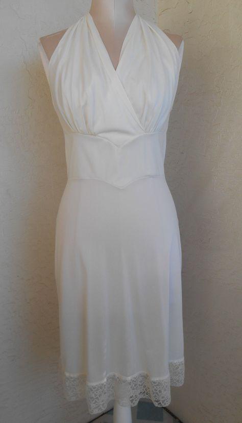 White Full Slip | by Carter's Size 32 Slip dress Bridal Wedding Vintage