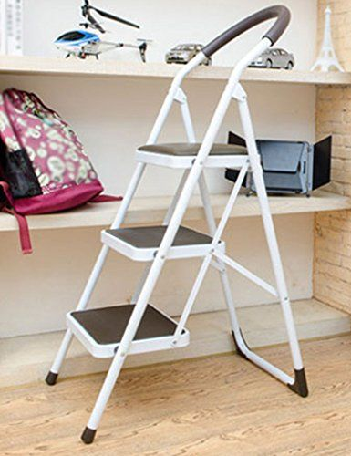 Swell Ladder Stool Wwl 3 Step Non Slip Handle Foldable Treads Squirreltailoven Fun Painted Chair Ideas Images Squirreltailovenorg