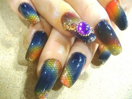16 amazing fish scale nail ideas fish scale nails prinsesfo Choice Image