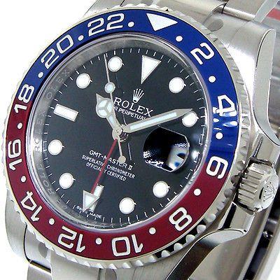 UNWORN ROLEX GMT MASTER ll PEPSI WHITE GOLD 116719BLRO 116719 BLUE RED CERAMIC in Jewelry & Watches, Watches, Parts & Accessories, Wristwatches   eBay