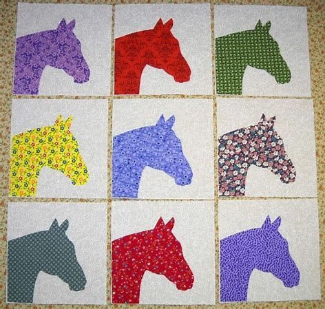 Image Result For Free Printable Horse Quilt Patterns Horse Quilt Quilt Patterns Cowboy Quilt