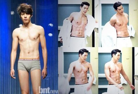 7 Incredible Photos Of Idols Before After They Turned Super Buff Koreaboo Breaking K Pop News Photos An The Incredibles Transformation Body Kim Woo Bin