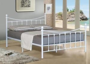 Details about 4FT SMALL 4FT6 DOUBLE 5FT KING SIZE METAL BED