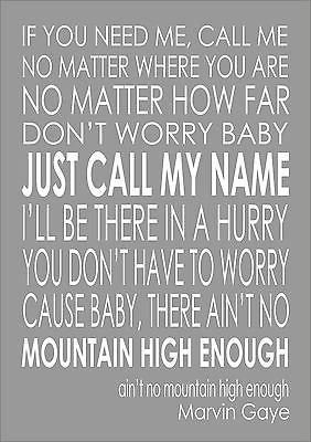 Details About Ain T No Mountain High Enough Lyrics Diana Ross