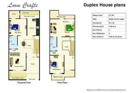 House Plan 20 X 50 Sq Ft Google Search With Images House Plans Duplex House Plans House Plans With Photos
