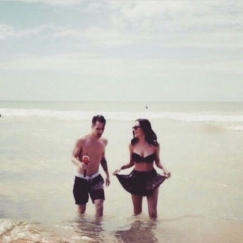 Brendon Urie with his wife, Sarah Urie.