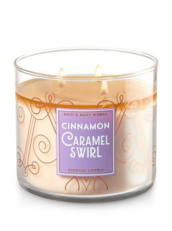 Cinnamon Caramel Swirl 3 Wick Candle Bath And Body Works Bath Body Works Candles Candles Bath Candles