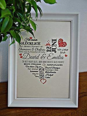 Personalisiertes Hochzeitsgeschenk Mit Namen Und Datum Jubilaumskarte Personliche Ges Hochzeitsgeschenk Geschenk Hochzeit Geldgeschenk Hochzeit Verpacken