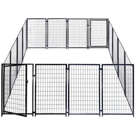 Aleko 2dk5x5x4sq Dog Kennel Heavy Duty Pet Playpen 10 X 10 X 4 Foot Dog Exercise Pen Cat Fence Run For Chicken Coop Hens House Walmart Com Dog Playpen Pet Playpens Pet Kennels