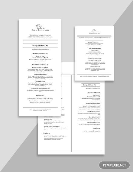 Chalkboard Banquet Menu Menu Template Templates Cocktail Menu