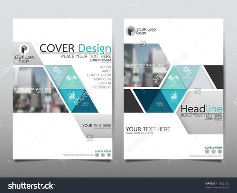 Blue Triangle Triangle Annual Report Brochure Flyer Design Template