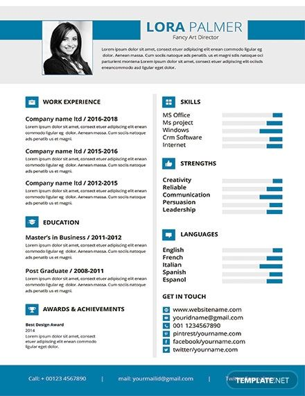 Free Professional Art Director Resume Cv Template Word Doc Psd Apple Mac Pages Publisher Resume Template Word Infographic Resume Infographic Resume Template