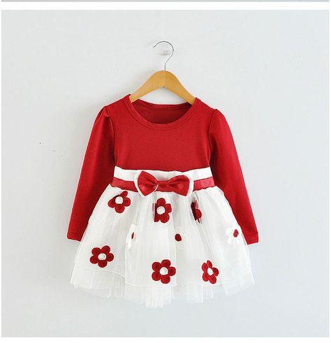 c675cd801 Barato Bonito Vestido Da Menina do Algodão Do Bebê Dos Miúdos Das Crianças  Do…