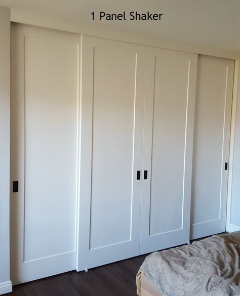 Panel Louver And Flush Doors Install Style Bypass Sliding Door Style Shaker 1 Panel No D Bedroom Closet Doors Sliding Closet Doors Sliding Wardrobe Doors