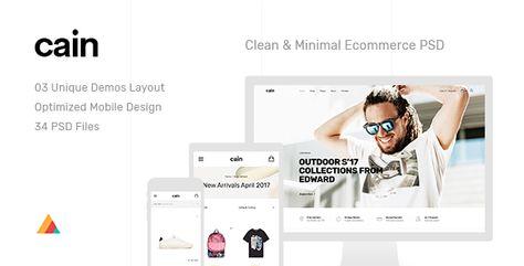 Cain | Clean & Minimal Ecommerce PSD Template | Stylelib