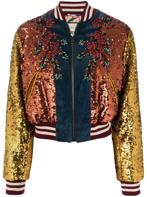 Gucci GG Web sequinned bomber jacket $8,500 - Shop AW17 Online - Fast Delivery, Price