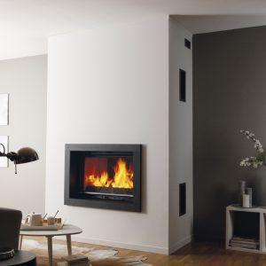 Cheminee Design Moderne Contemporaine Avec Insert Foyer Ouvert