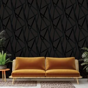 Tempaper Intersections Vinyl Peelable Wallpaper Covers 56 Sq Ft In4024 The Home Depot Geometric Removable Wallpaper Removable Wallpaper Peel And Stick Wallpaper