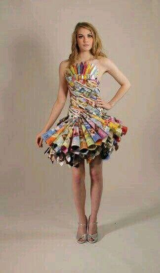 Pin De Ruby Del En Riciclable Vestido Con Material