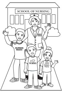 School of nursing Coloring page | Free Gift from Nurse Nicole ...