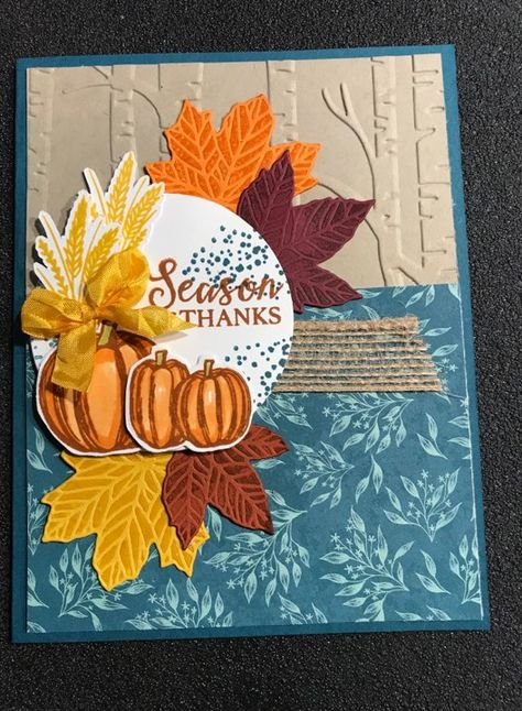 Gather Together Monthly Kit Fall Cards, Holiday Cards, Christmas Cards, Leaf Cards, Card Making Tutorials, Stamping Up Cards, Thanksgiving Cards, Card Sketches, Card Kit