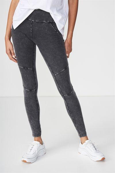 Dakota Detail Legging Washed Black Hip Moto Pants For Women Legging Women S Leggings