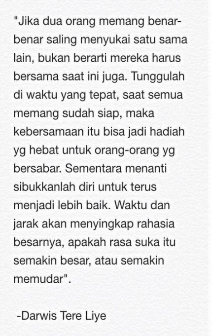 15 Trendy Quotes Indonesia Tere Liye Cinta Quotes Kutipan