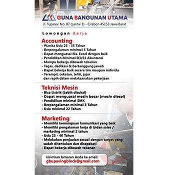 Lowongan Kerja Guna Bangunan Utama Cirebon Di 2020 Bangunan