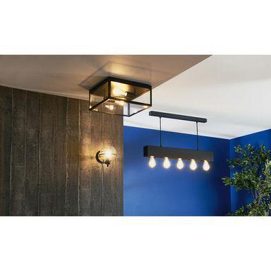 Lampa Sufitowa Charterhouse Czarna E27 Eglo Zyrandole Lampy Wiszace I Sufitowe W Atrakcyjnej Cenie W Sklepach Leroy Merlin